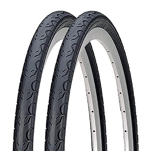 Neumáticos de bicicleta de carretera (2 neumáticos) Neumático de bicicleta duradero de amortiguación de repuesto, Accesorios generales de bicicleta negros, Adecuado para bicicletas de carretera,700x35