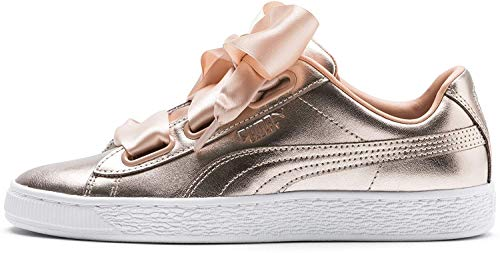 PUMA Basket Heart Luxe Damen Sneaker Dusty Coral-Puma White UK 4_Adults_FR 37