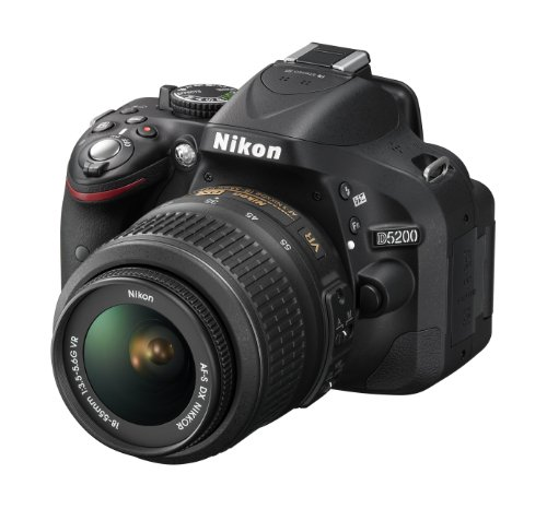 Nikon D5200 24.1 MP CMOS Digital SLR with 18-105mm f/3.5-5.6 AF-S DX VR ED NIKKOR Zoom Lens (Black) (Discontinued by Manufacturer)