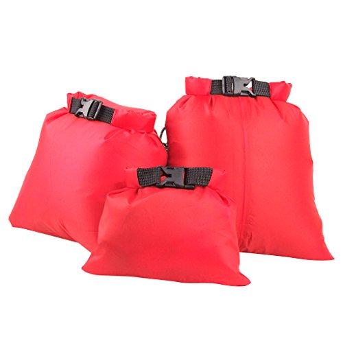 【ノーブランド品】ドライバッグ ドライチューブ 防水 3点セット 全5色 (ブライトオレンジ)