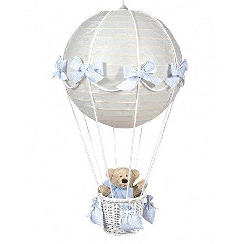 Pasito a Pasito – Lampada globo Vichy, colore: blu (BP)