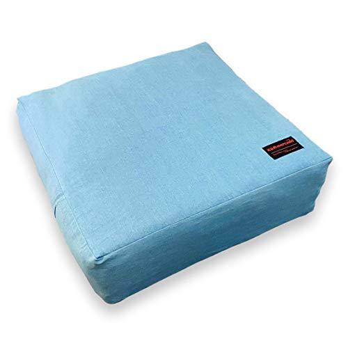 布団収納袋 大きなクッションにもなる クッションカバー シングルかけ布団サイズ 約60×60cm×20cm 布団が邪...