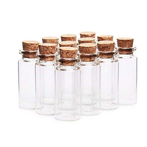Danmu Art 30 tarros de cristal de 10 ml, 22 mm x 50 mm, con tapones de madera de corcho, decoraciones de Halloween