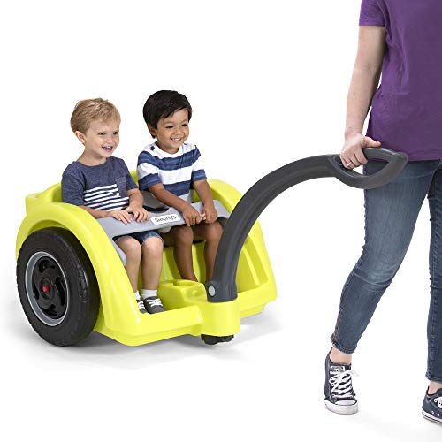 Simplay3 Trail Master 2-Seat Wagon for Children - 2 Wheel Easy Turn Grass Dirt Hiking Trail Lap Bar Water Bottle Holders Storage Removable Handle
