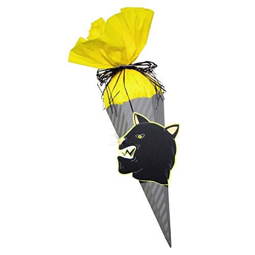 Schultüte Bastelset Panther - Zuckertüte - aus 3D Wellpappe, 68cm hoch