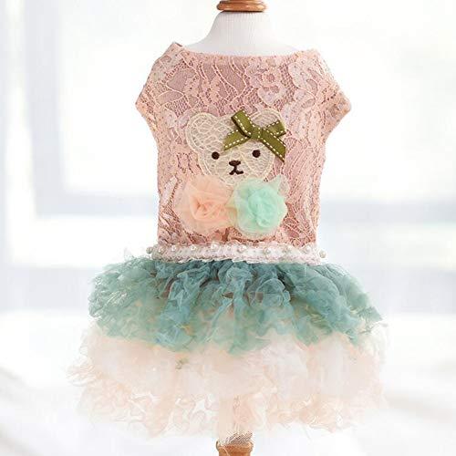 XPC-Pet Clothes trouwjurk voor honden en huisdieren, voor de zomer, roze