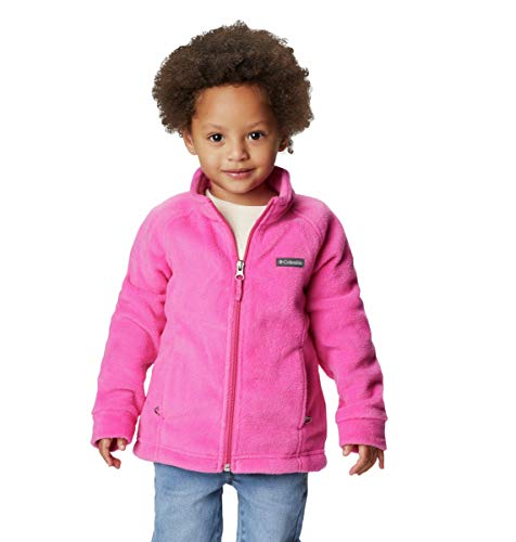 Columbia Girls' Toddler Benton Springs Fleece Jacket, Pink Ice, 3T