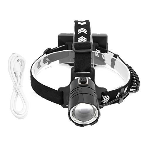 Cloudbox Linterna Frontal XHP90 Luz Frontal de Gran Brillo Luz Frontal Carga USB para Acampar, Pescar, Adecuado para Caminatas al Aire Libre, campamentos, espeleología, Caza, Pesca, Paseos en Bote