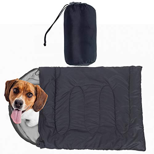 Price comparison product image Outrav Dog Sleeping Bag - Camping Dog Bed - Extra Durable Waterproof Dog Sleeping Bag Bed - Packable Dog Bed for Camping,  Hiking,  Cottage and Beach Portable Dog Bed with Stuff Sack (Gray)