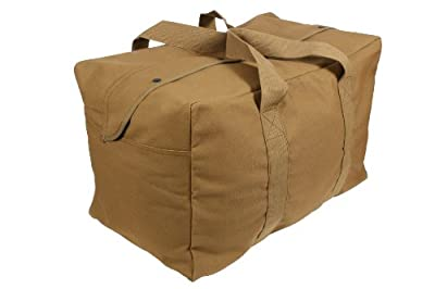 Rothco Canvas Parachute Cargo Bag, Coyote Brown