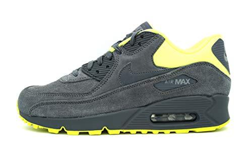 Nike Air Max 90 Premium, Sneaker basse da uomo, Grigio (Grigio Giallo Fluo), 38.5 EU