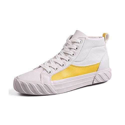 GERPY Zapatillas de Mujer 2019 Primavera Verano Zapatillas Altas Blancas para Mujer Zapatos Casuales Suela de Goma Zapatos de Estudiante Zapatilla de Deporte Zapatos Femeninos