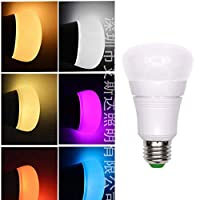 GOOGLE HOME ALEXAと互換性のあるAPP Control E27 7W調整可能カラーRGB LED電球