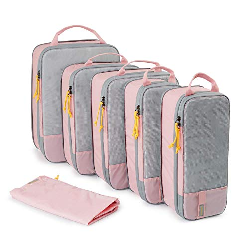 YXZQ 7 Sets Travel Luggage Organizer Solid and Foldable Packing Cubes Suitcase with Laundry Bag