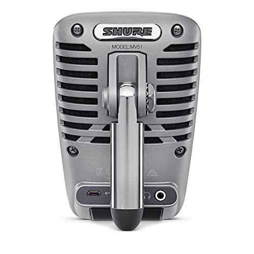 Shure MOTIV MV51 Condenser Microfoon – Silver