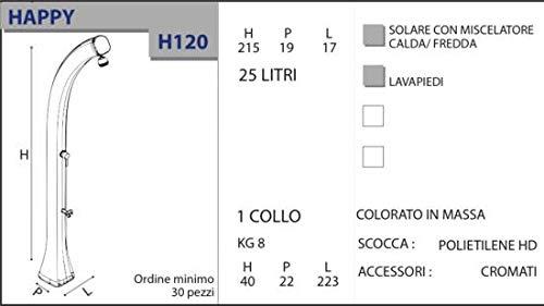 Doccia Solare Calda Happy Antracite in Polietilene HD Arkema