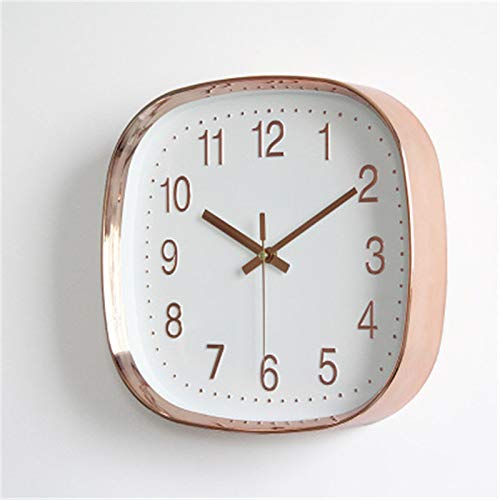 Mily MILYSimple Modieuze Mute Wall Clock Living Room Bedroom Wall Map Square Quartz Clock 30 cm wit