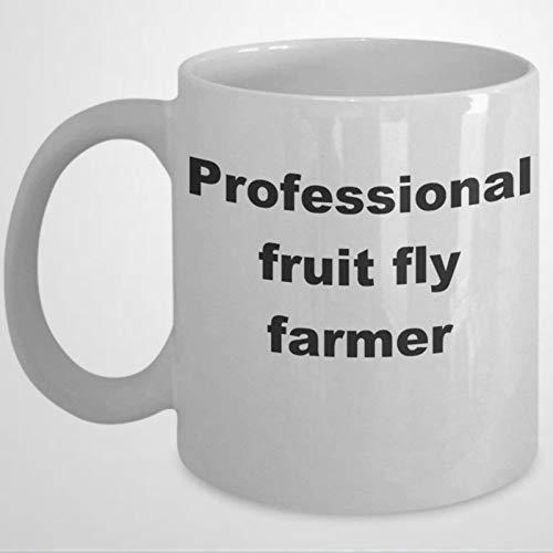 Tasse mit Fruchtfliegen-Motiv, 325 ml