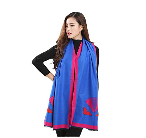 dames. Sjaal met kasjmier-imitatie, brede hak, klein monster, dubbel gebruik, voor herfst en winter, dikke sjaal