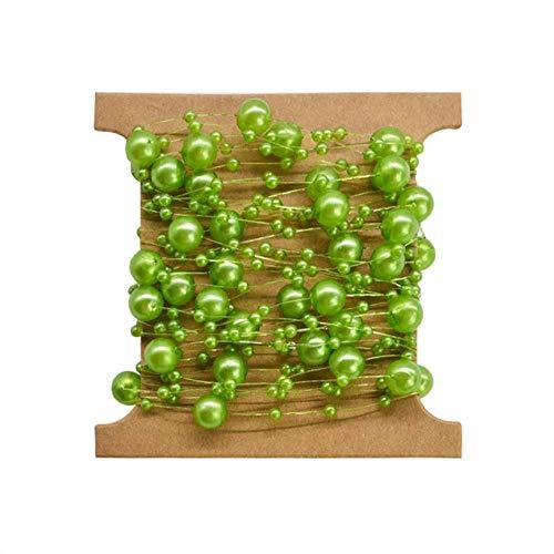 QVC Angelschnur, künstliche Perlen, Kette, Girlande, Blumen, Hochzeit, Brautstrauß, Blumen, Hochzeit, Party, Dekoration grün