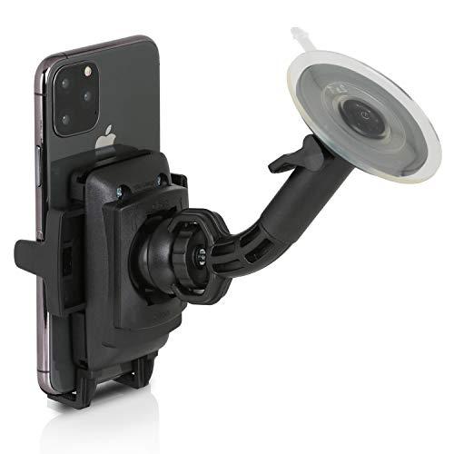 Sony DSX-A410BT MP3 Autoradio (Dual Bluetooth, NFC, USB, AUX Anschluss, Beleuchtung, 4 x 55 Watt, Freisprechen) rot & Wicked Chili Auto Halterung mit Kugelgelenk für Apple iPhone XS/X/8/7/6/SE/5
