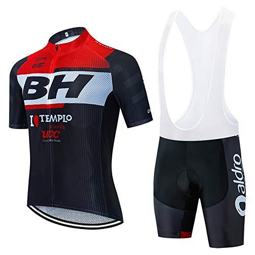 STEPANZU Maillot Ciclismo Hombre Corta Ropa Ciclismo + Culote con 3D Almohadilla...