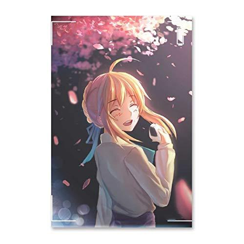 ZJYSM Fate Saber Altria Pendragon Anime (12) Modern Family Bedroom Decor Posters 12x18inch(30x45cm)