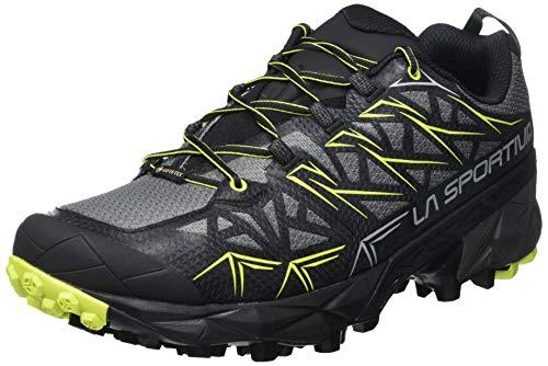 LA SPORTIVA Akyra GTX, Scarpe da Trail Running Uomo, Multicolore (Carbon Apple Green 000), 44 EU