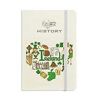 アイルランドの愛の心の風景の国旗 歴史ノートクラシックジャーナル日記A 5
