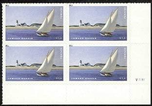 US Stamp 2011 Edward Hopper Art The Long Leg 4 Forever Stamp Plate Block #4558