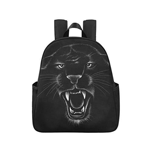 Schwarzer Jaguar Panther Schöne Augen Teen Rucksack 12.40x5.12x14.17inch Büchertaschen Für Erwachsene Männer Mehrzweck Gelegenheitsarbeit Rucksack Geschäftsreise Schule, Büro