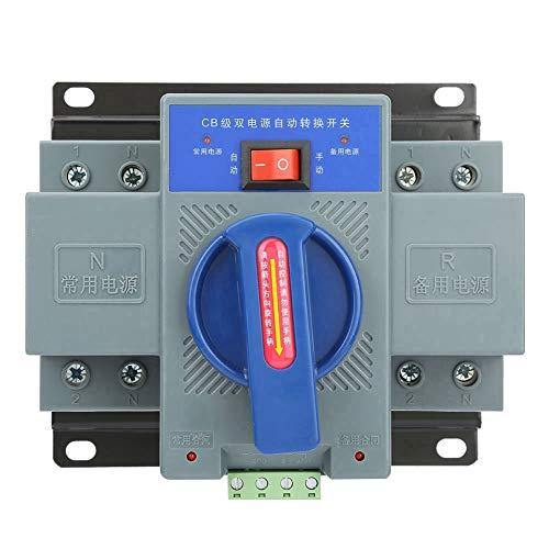 Automatischer Umschalter,NDQ1-63 / 2P Automatic Transfer Switch Mini 63A 2Polzahl Dual Power Automatischer Transferschalter,AC 50Hz 230 V,400 V 63A,lange Lebensdauer
