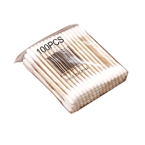 FATTERYU 100 St/ücke Einweg Wattest/äbchen Applikator Q-Tip Tupfer Kunststoffgriff Robust Neu