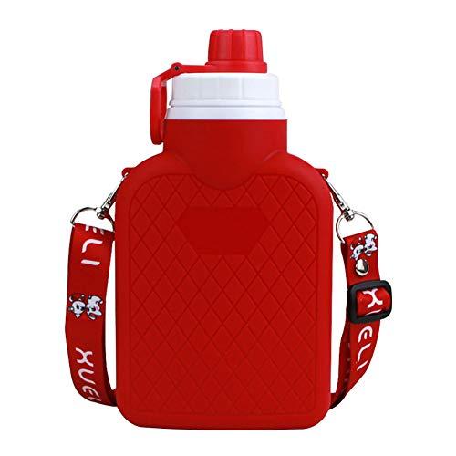 Botella De Agua Deportiva Botella Termo Botella Personalizada Gimnasio Deporte Botellas Bpa Free Botella De Agua Reutilizable para Gimnasio Ciclismo Trekking Red,700ml