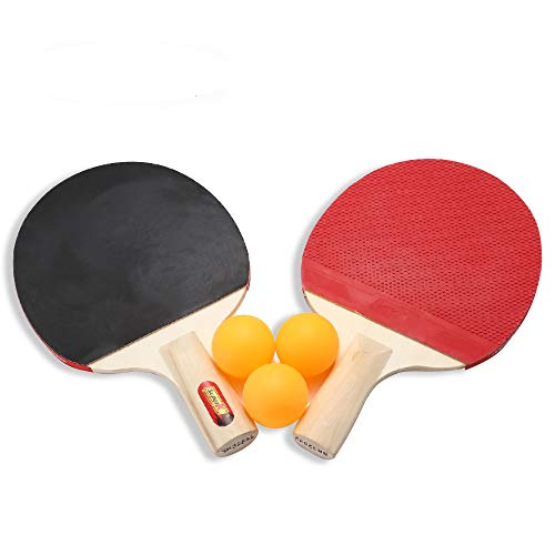 Fantastic Deal! AODDING Table Tennis Paddle, Portable Professional Ping Pong Racket Set, Table Rubbe...