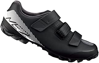 SHIMANO Men ME200 SPD MTB Cycling Shoe - Black/Green, Size EU 48