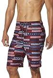 Speedo - Bañador para Hombre (50,8 cm), Estampado, Hombre, Pantalones Cortos, 7784178, SPEEDO Rojo, Large