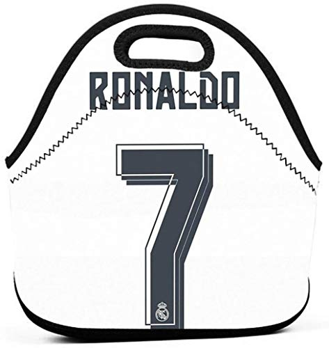 Creeper Through Wall Work School Picnic Insulated Lunch Bag Tote Reusable Lunch Box for Men Women Kids-Cr7 Season 2015-16-One Size