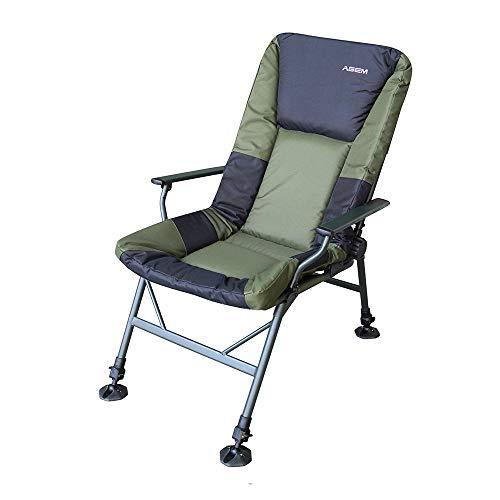 AGEM Outdoor Stuhl Fishing Chair Fischerstuhl Faltbar Outdoor Karpfenstuhl mit Armlehne 150kg