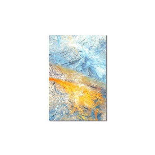 Dream Blue and Yellow Abstract Art Canvas Paintings Modular Pictures Wall Art Canvas for Living Room Decoration No Framed,50x70cm No Frame,3FX11