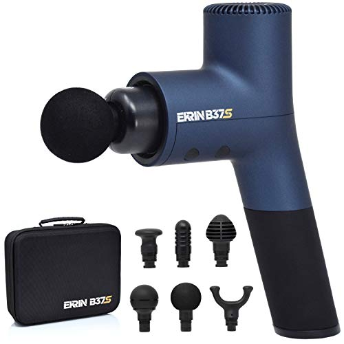 Ekrin Athletics B37S Massage Gun - Percussion Massager for Sore Muscles & Recovery / 8-Hour Battery Life / 30% More Power with 5 Speeds / 6 Attachments / Move Better & Recover Faster