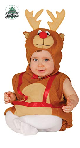 Guirca SL. - Disfraz de reno para niño de 1/2 años, marrón, 1-2, GU_42532.