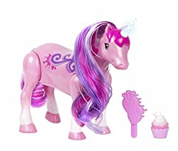 Unicorn Dancer by Litte Live Pets His magic horn has lights Dance to the rhythm of your own music You can feed her your favorite cupcake Stroke his cheek and he'll answer you