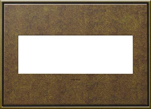 Legrand adorne Aged Brass, 3-Gang Wall Plate, AWC3GAB4
