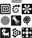 Tarjetas Negras y Blancas para Bebés, 48 Imagenes 5,5 x 5,5 Pulgadas Tarjetas...