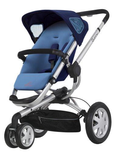 Quinny 60304980 - Buzz 3, praktisches Travelsystem inklusive Einkaufskorb, Sonnenverdeck, Regenverdeck und Adapter für die Babyschale, Electric Blue