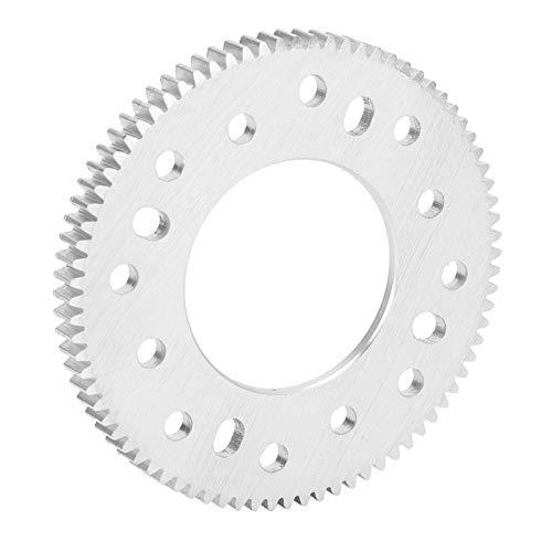 80 dientes cilíndricos de aluminio agujero central del engranaje 32 mm paso del engranaje 0,8 mm piezas de sobrevelocidad de desaceleración de dientes rectos