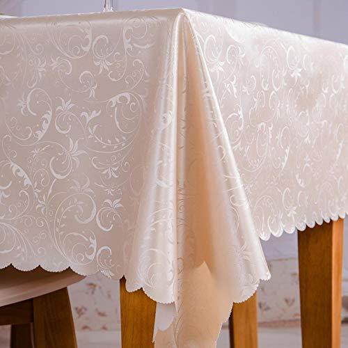Yinaa Mantel para Mesa de Cocina o Salón Hojas Rectangular Resistente Al Desgaste Anti Escaldado Impermeable Diseño de Comedor Decoración del Hogar Flor a 130×180cm