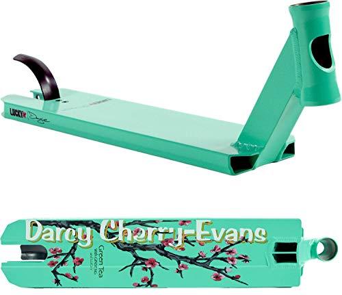 LUCKY Prospect Signature - Tabla para patinete con cinta de agarre (Darcy Cherry-Evans turquesa, 49,5 cm)