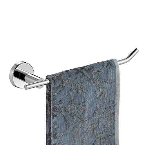 JQK Chrome Towel Ring, Stainless Steel Hand Towel Bar Holder for Bathroom, 9 Inch Polished Chrome Wall Mount, TR100-CH